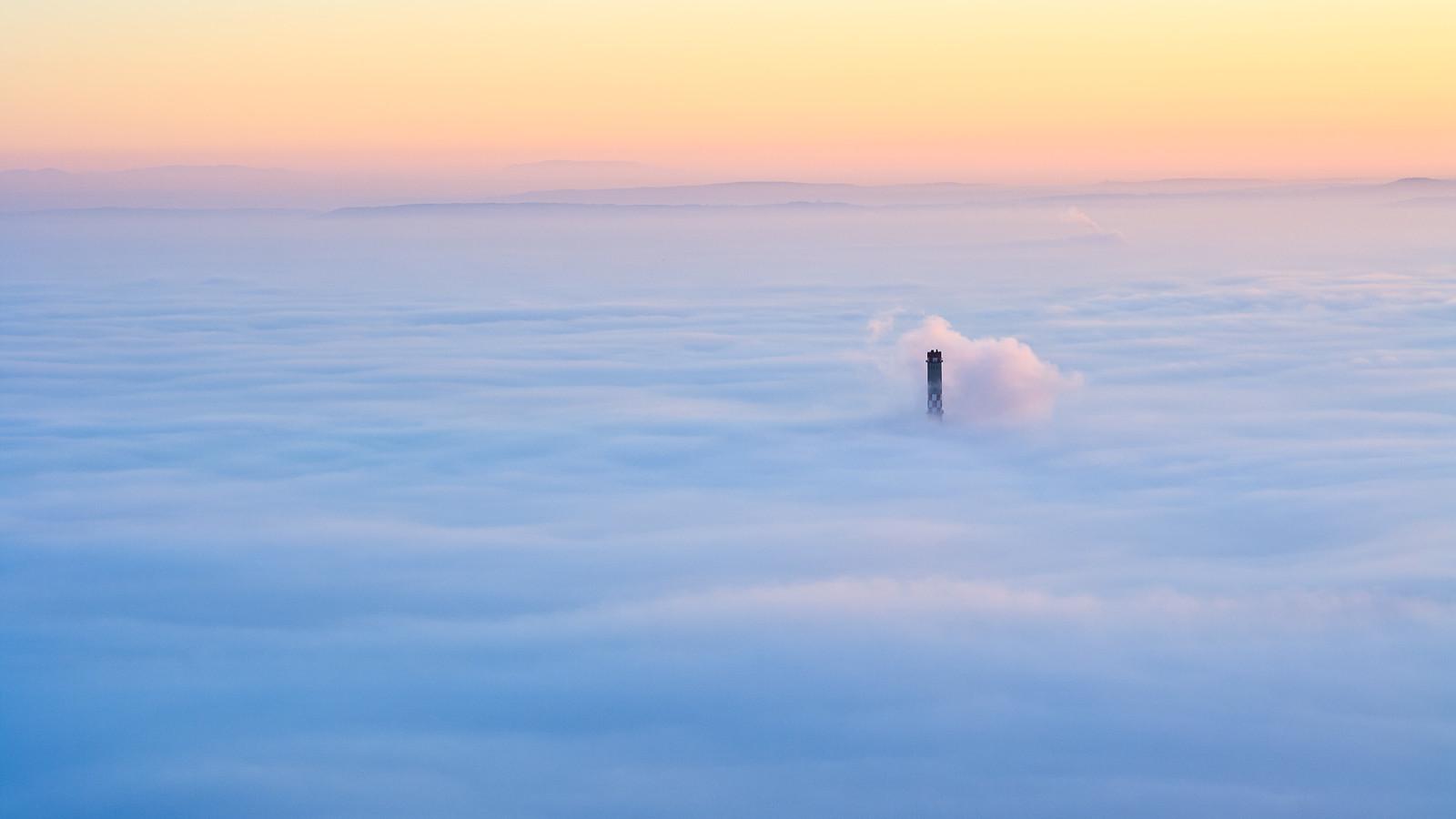 Budapest under the fog