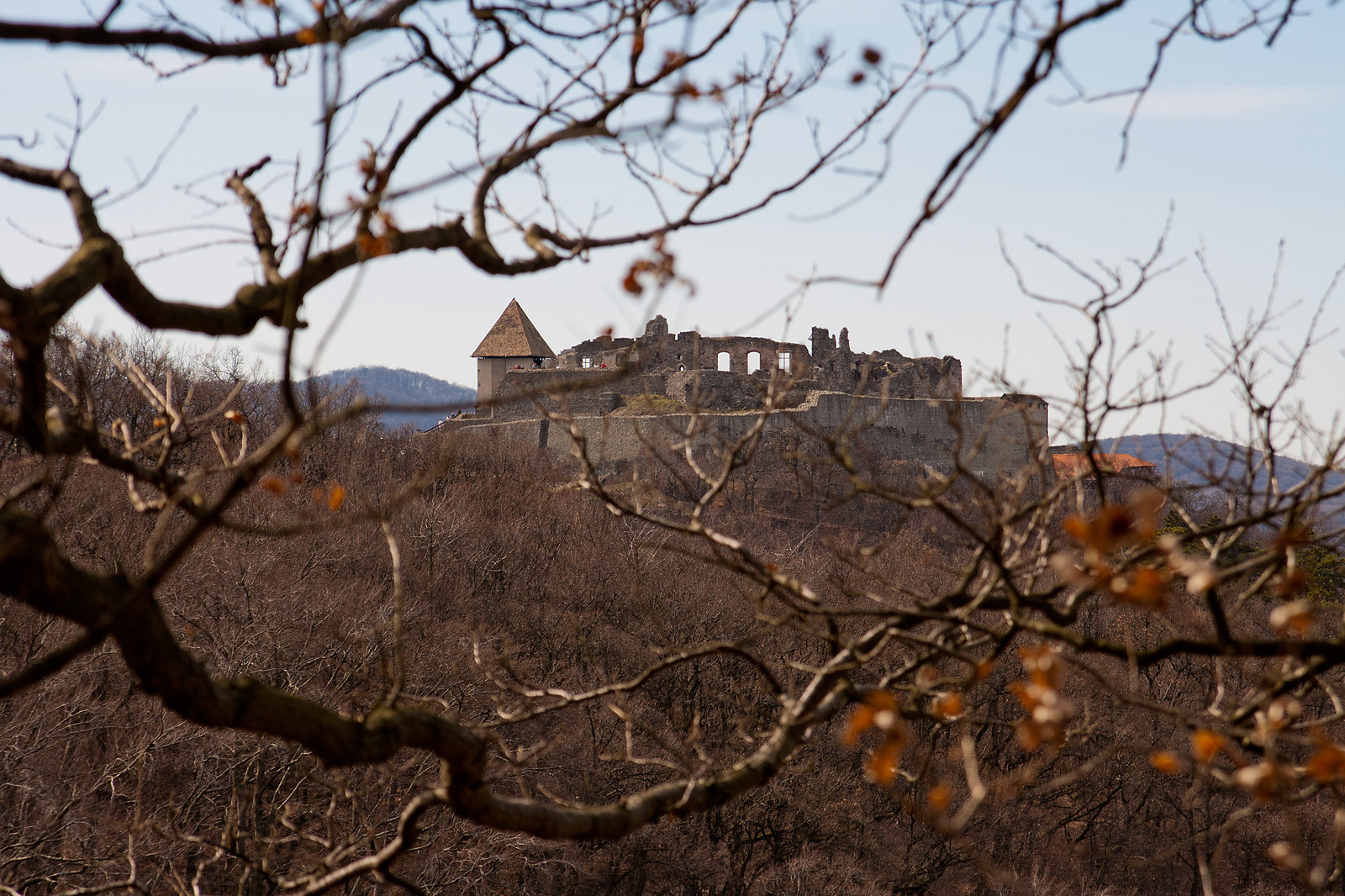 Castle of Visegrad in spring