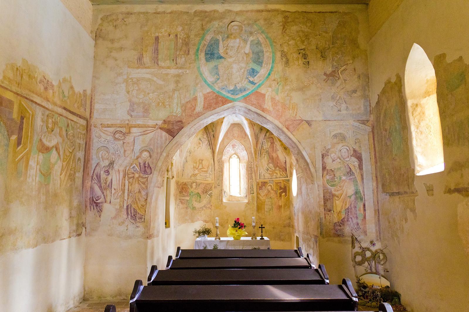 Inside of the medieval church of Velemér