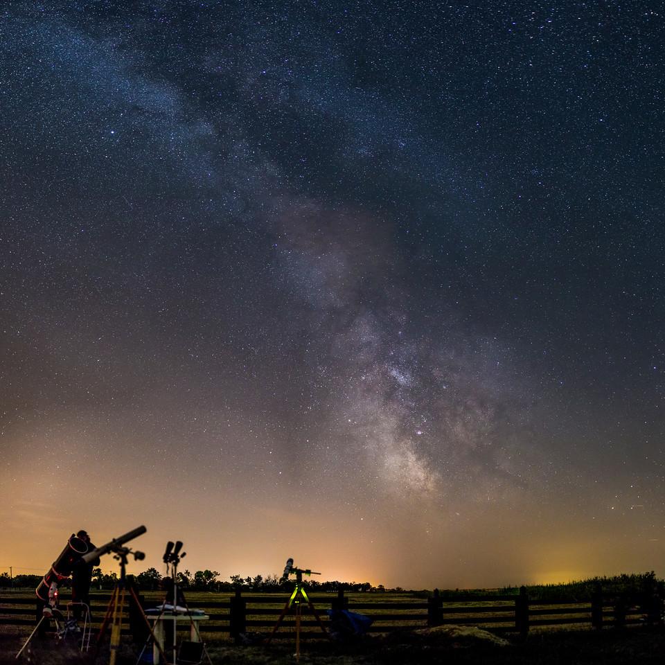Milky way over Hortobágy