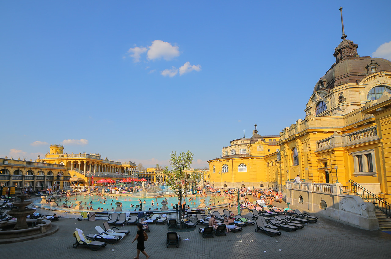 A normal landscape at Széchenyi Spa