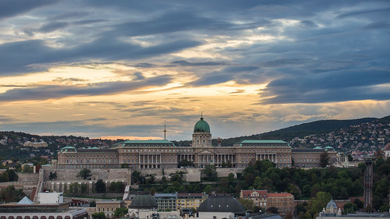 Buda Castle from the top of St Stephen Basilica