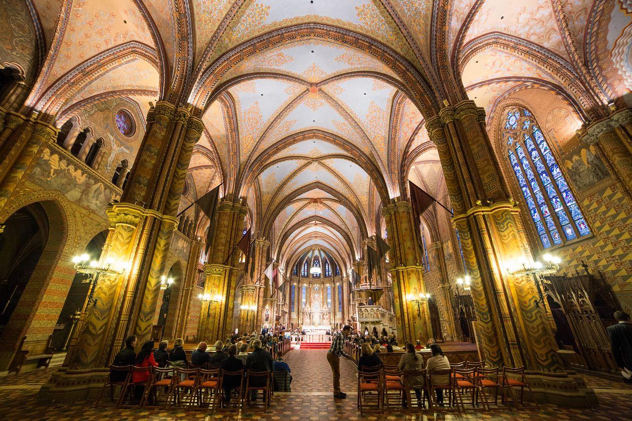 Inside of Mathias church in Buda Castle
