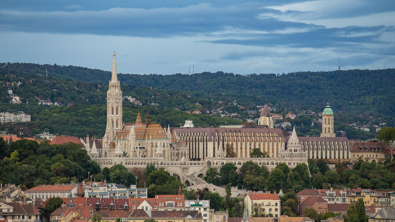 Mathias Church and Fishermens Bastion from the top of St Stephen Basilica