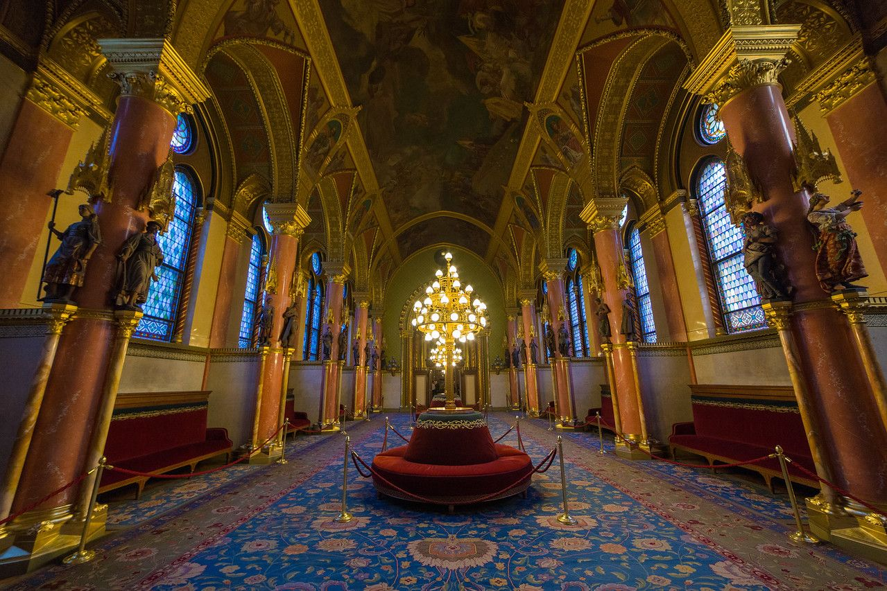 Decorated room in hungarian Parliament