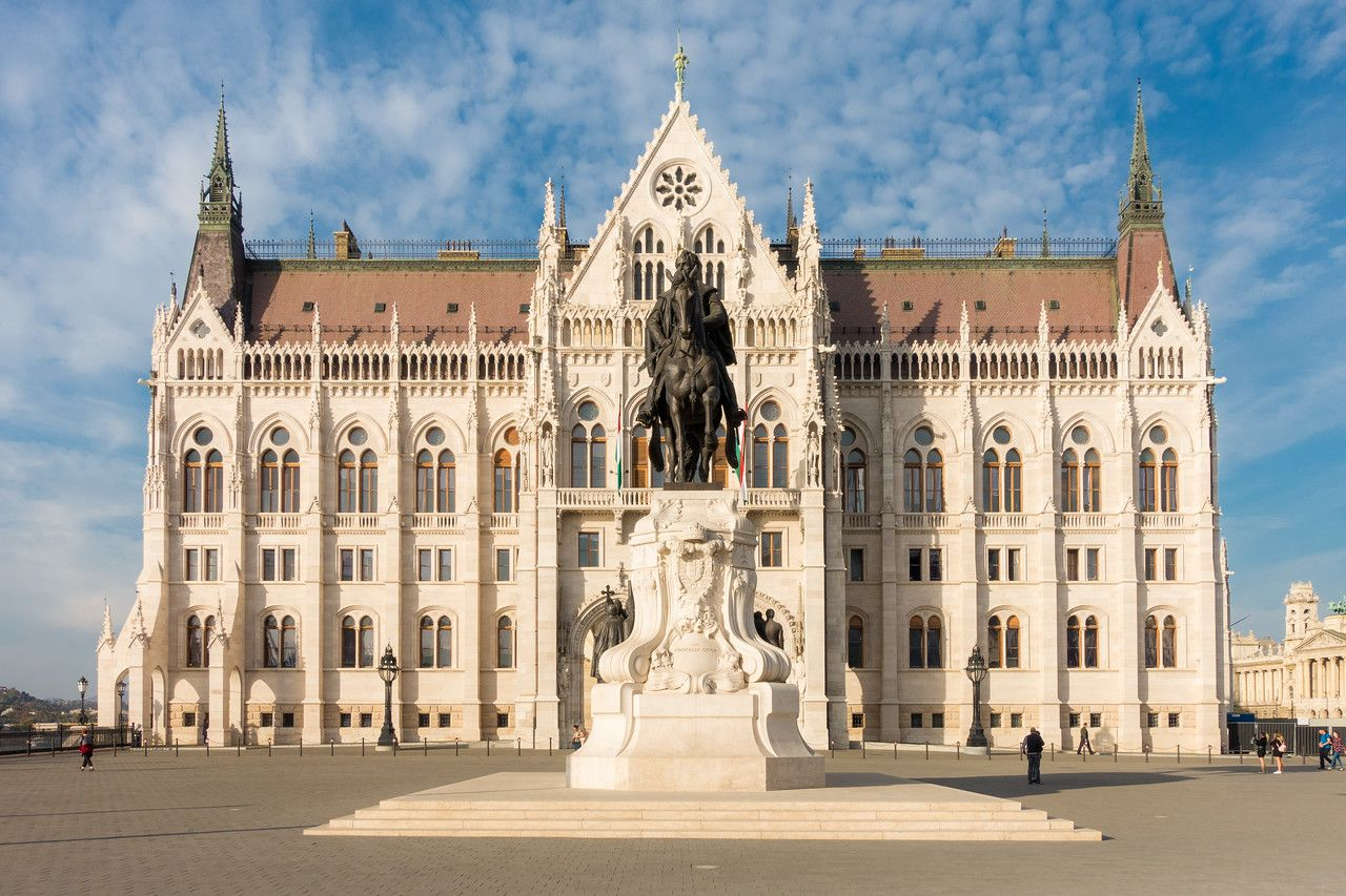 South side of Parliament Budapest in the sun