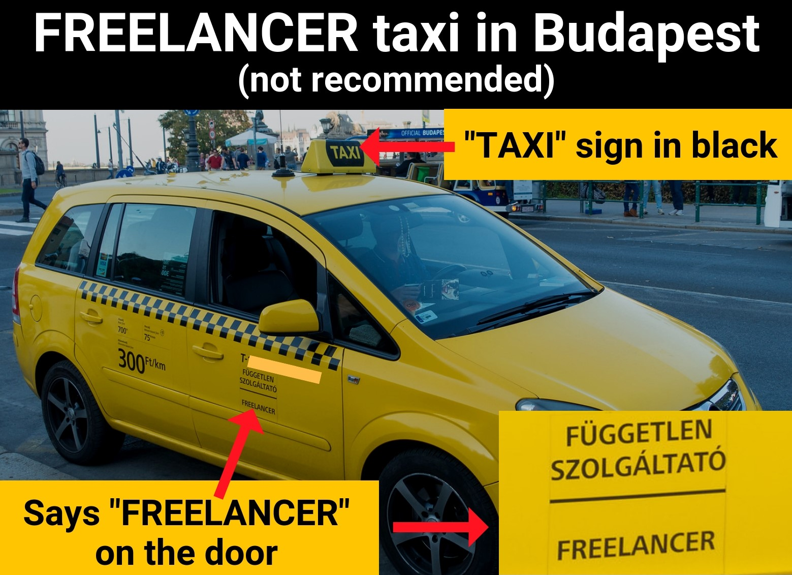 How to spot a freelancer taxi in Budapest