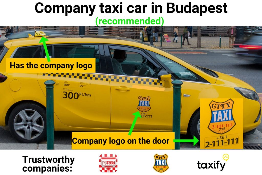 trusted company taxi car in Budapest