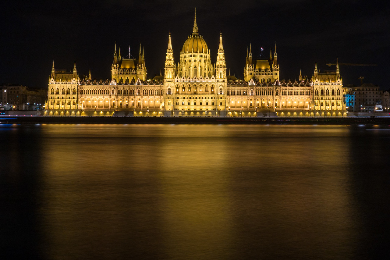 Budapest Parliament with reflections