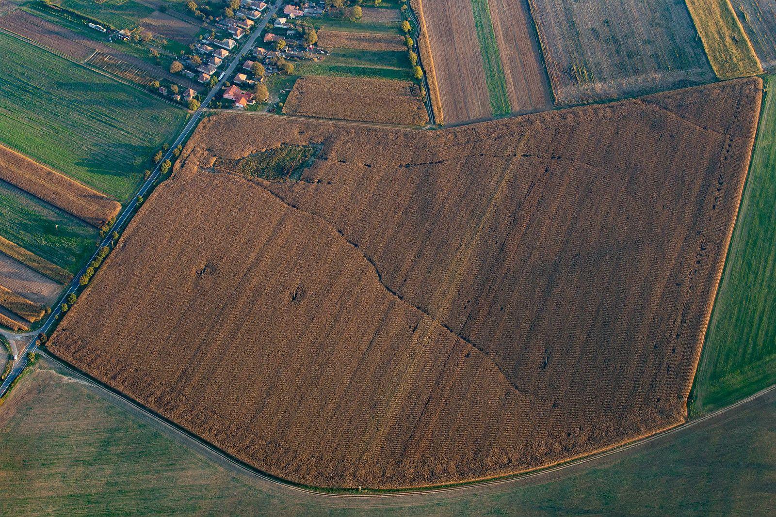 crop fields from above near Szanda