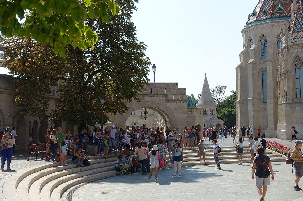 crowd at Fishermens Bastion