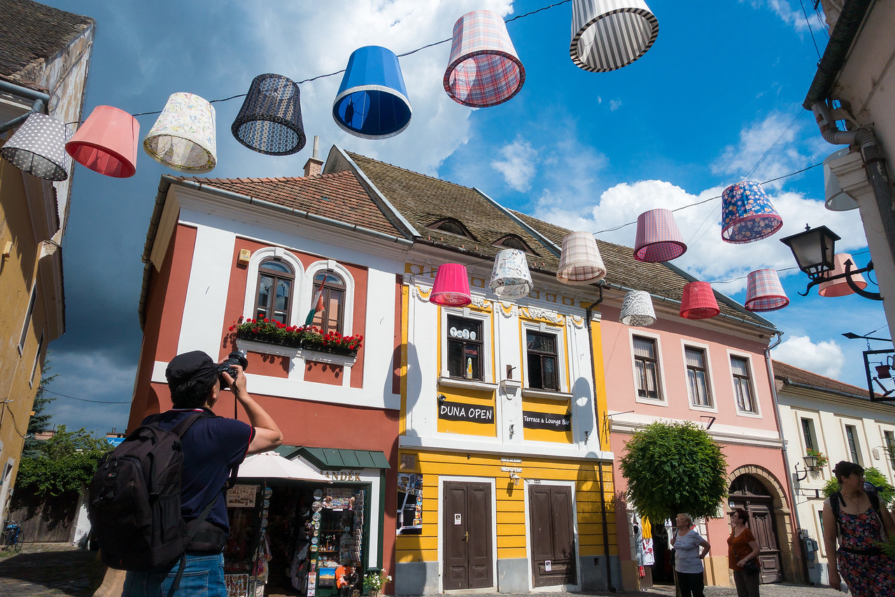 photographing colorful Szentendre