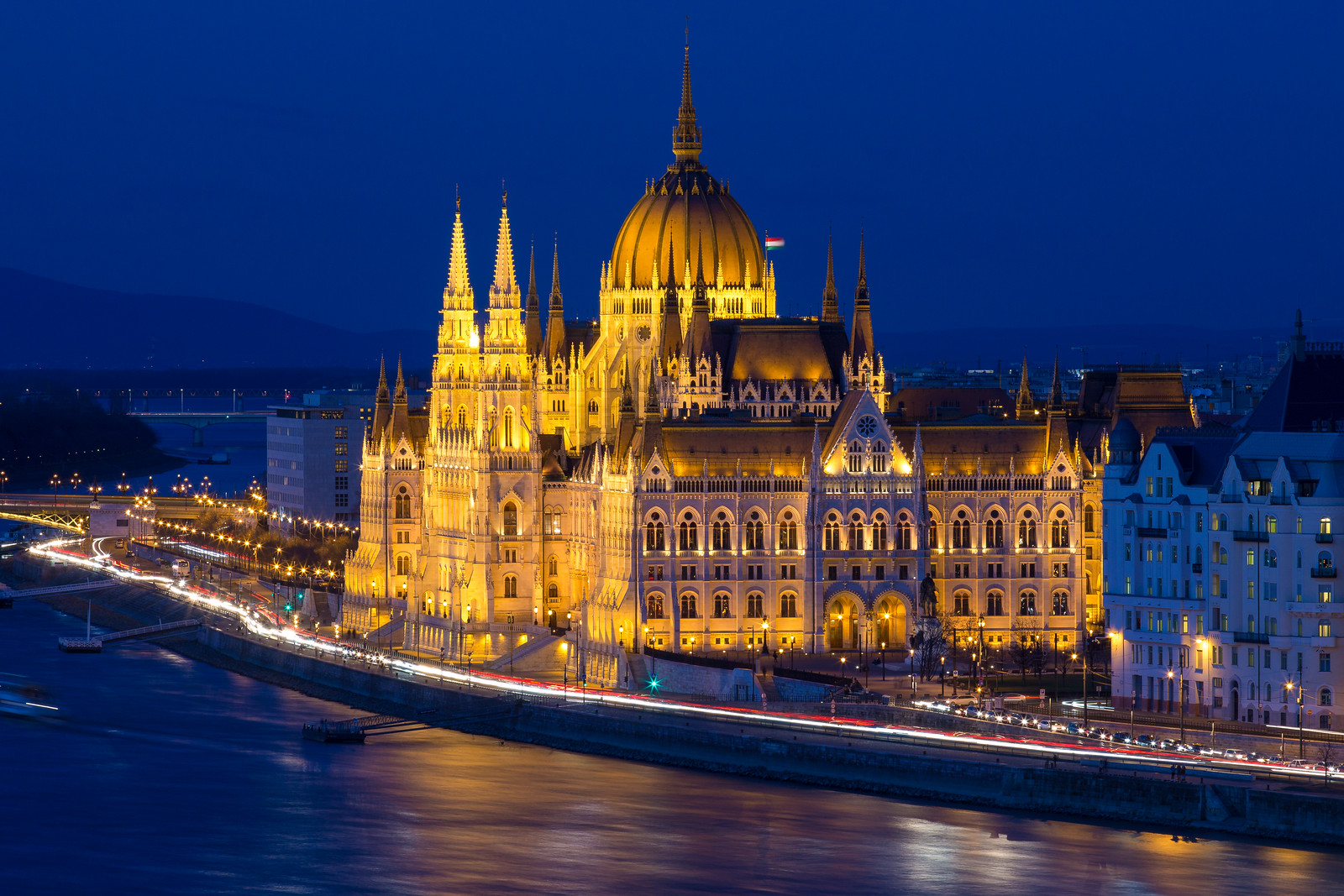 Budapest Parliament at night in the Blue Hour