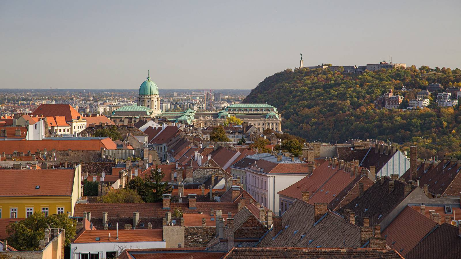 Buda Castle and Citadel from Maria Magdalena tower