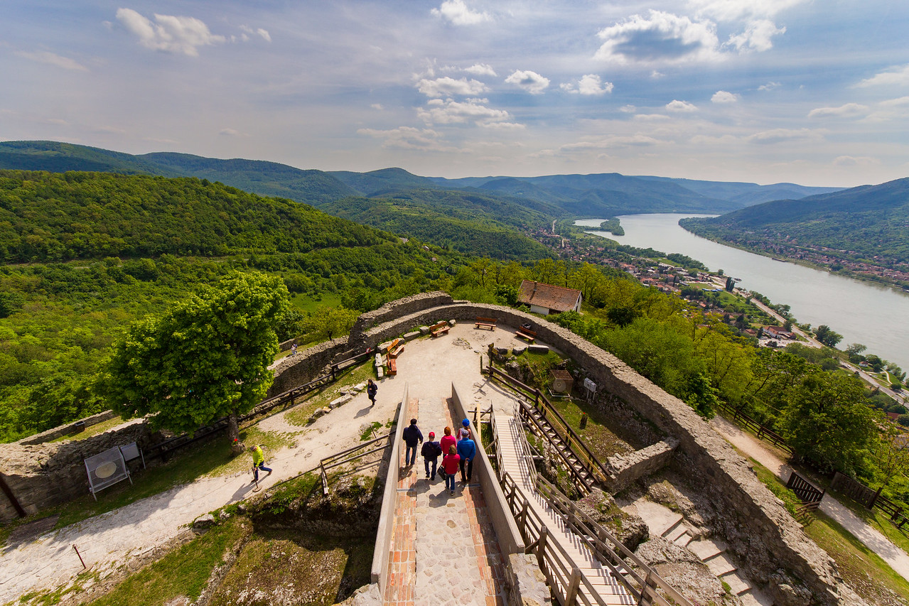 Visegrad Castle and Danube Bend view wide angle