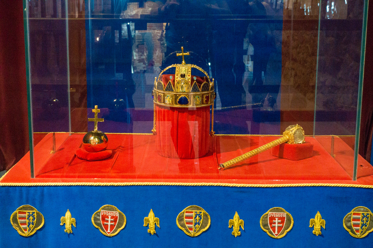 Visegrad Castle copy of hungarian holy crown