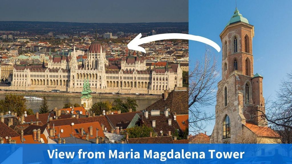 view from Maria Magdalena tower church Buda Castle